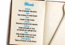 Un menù con i fiocchi…