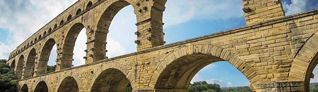 Tipico esempio di un acquedotto romano