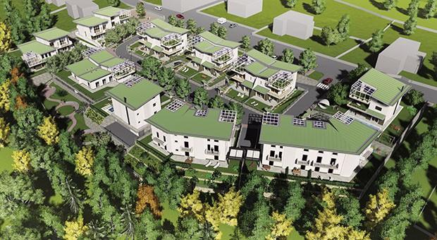 Esterno complesso progetto casa Vavassori