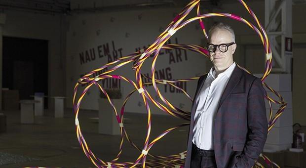 Hans Ulrich Obrist e Christian Boltanski, curatore della mostra