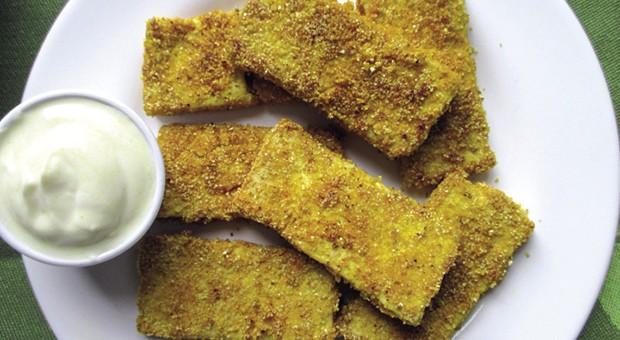 Bastoncini croccanti di tofu impanato