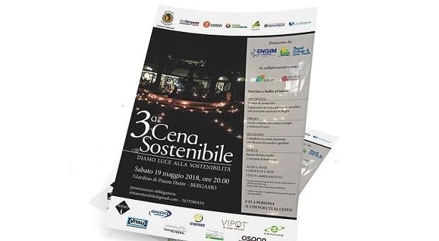 Cena a lume di sostenibilità